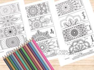 ScriboCreative.com Coloring Bookmarks
